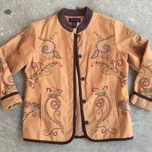 🆕 Listing!  Denim & Co. | Embroidered Jacket